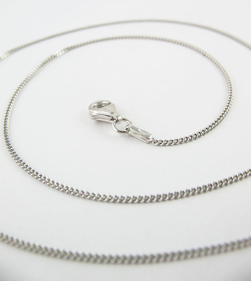 1.2 mm Rhodium-Plated Sterling Silver Curb Chain