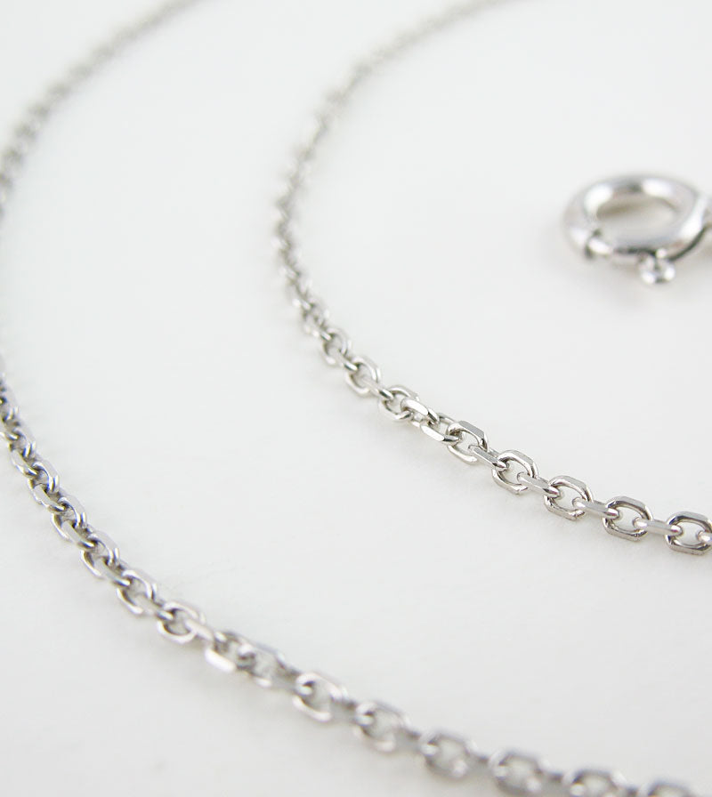 1.2 mm Rhodium-Plated Sterling Silver Diamond-Cut Cable Chain