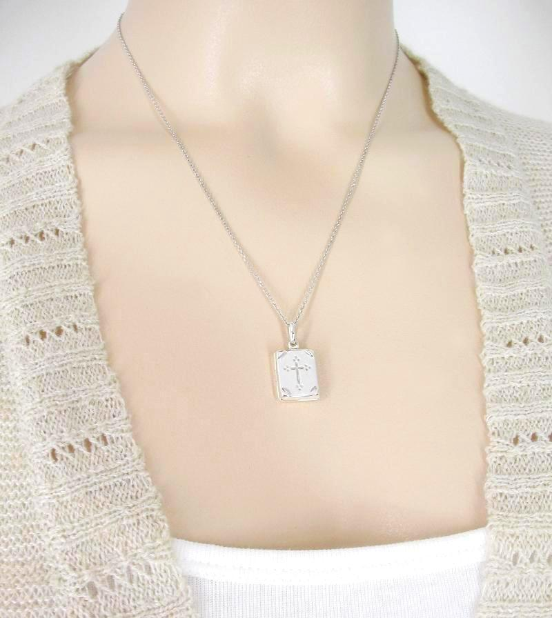 Comforting Bible Locket Necklace with Cross - woot & hammy