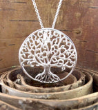 Curlicue Branches Large Tree of Life Medallion Necklace - woot & hammy