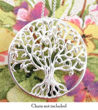 Large Tree of Life Medallion with Curlicue Branches | woot & hammy thoughtful jewelry