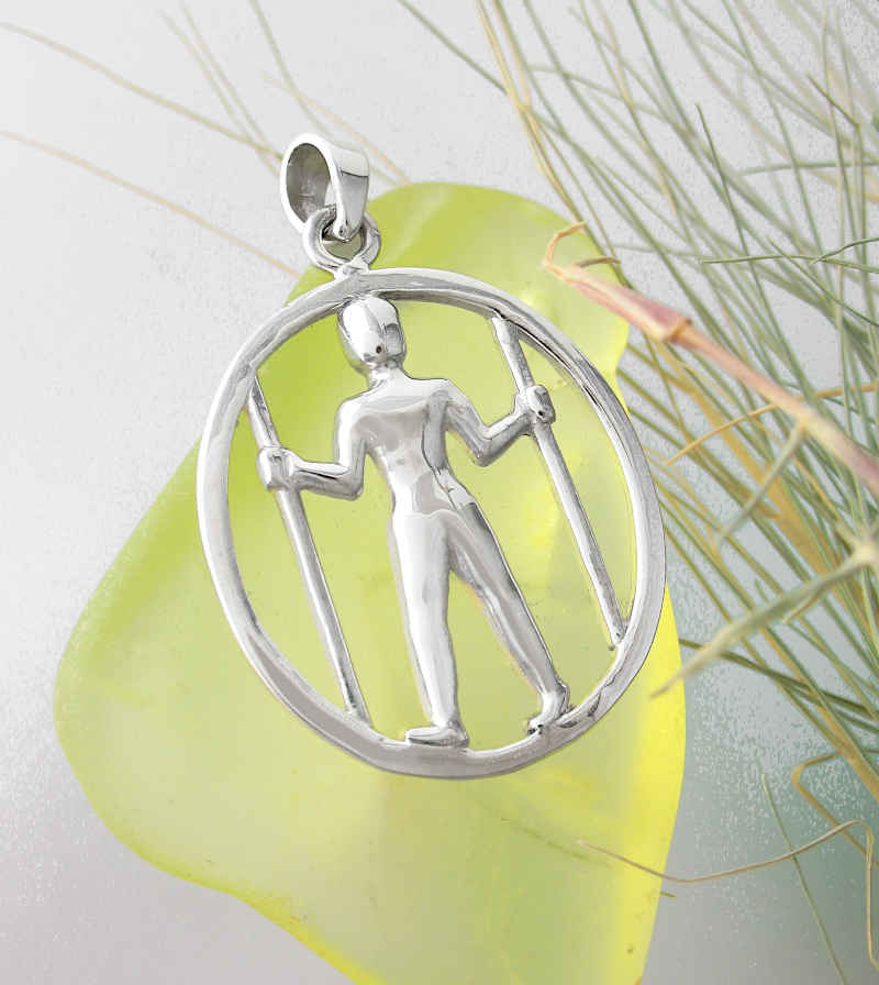 Long Man of Wilmington Cut-Out Pendant | woot & hammy