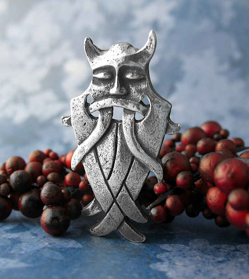Odin's Terrible War Mask Pendant in Pewter | woot & hammy
