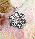 Six Philosophies Lotus & Flower of Life Coexist Pendant