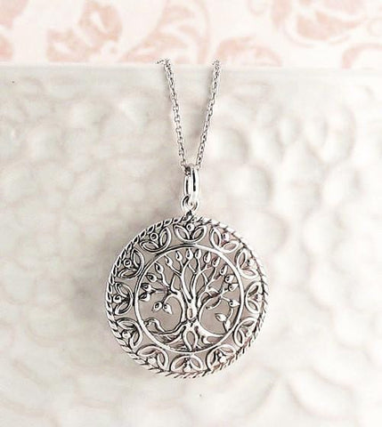 Tree of Life Medallion Necklace-Tree of Life > Tree of Life Necklaces-woot & hammy
