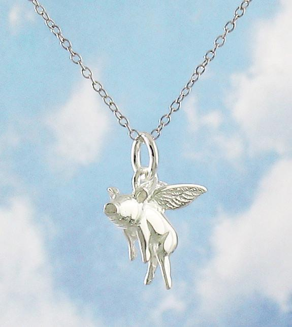 Believe Flying Pig Necklace - woot & hammy