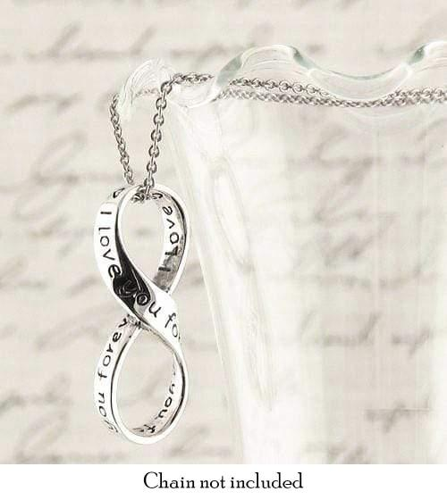 I Love You Forever Infinity Symbol Necklace Sterling ...