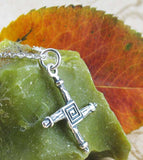 Small St. Brigid's Cross Necklace Crosog Bride Bridge Patron Saint Ireland Christian Sterling Silver