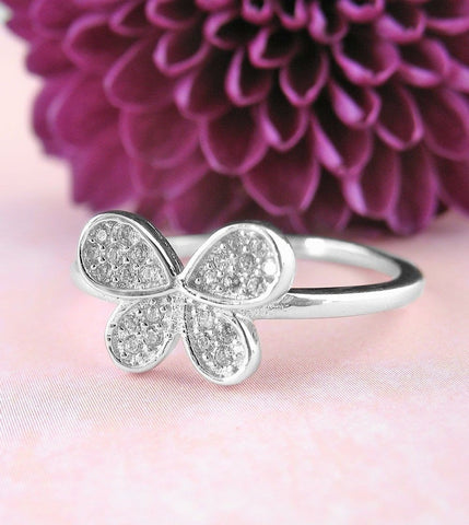 Butterfly Ring in Sterling Silver