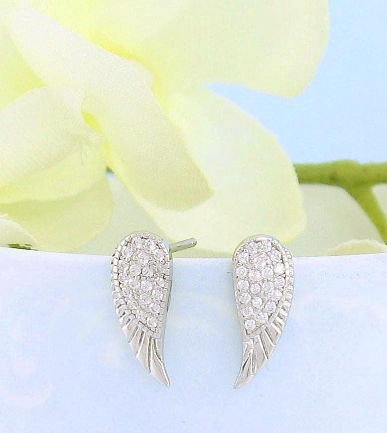 Jewelry Themed Earrings Sterling Silver Polished Bumble Bee CZ Post Earrings