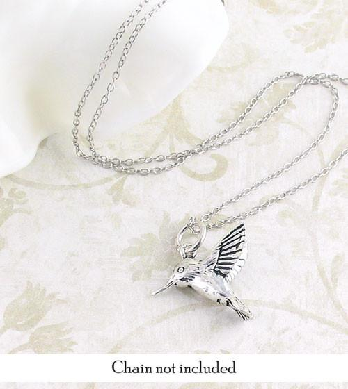 Tiny Hummingbird Necklace in Sterling Silver - woot & hammy