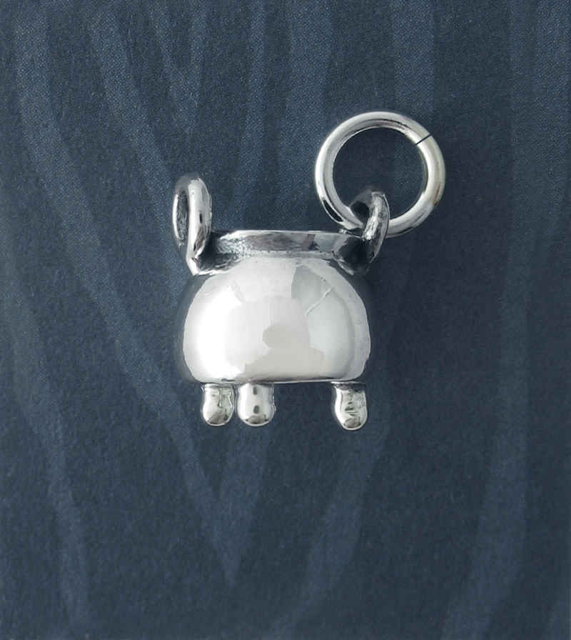 Miniature Three-Legged Witch's Cauldron Charm | Woot & Hammy