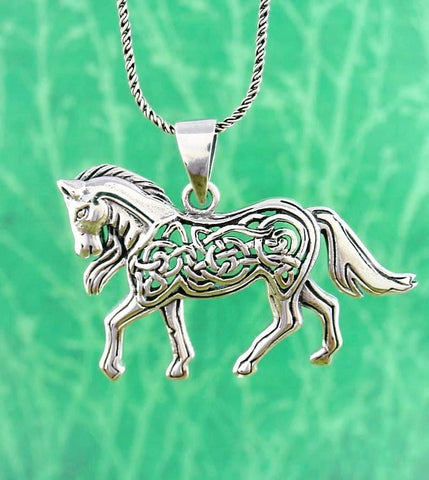 Mythical Celtic Horse Necklace - woot & hammy