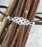Celtic Infinity Symbol Adjustable Slipknot Bracelet  | Woot & Hammy