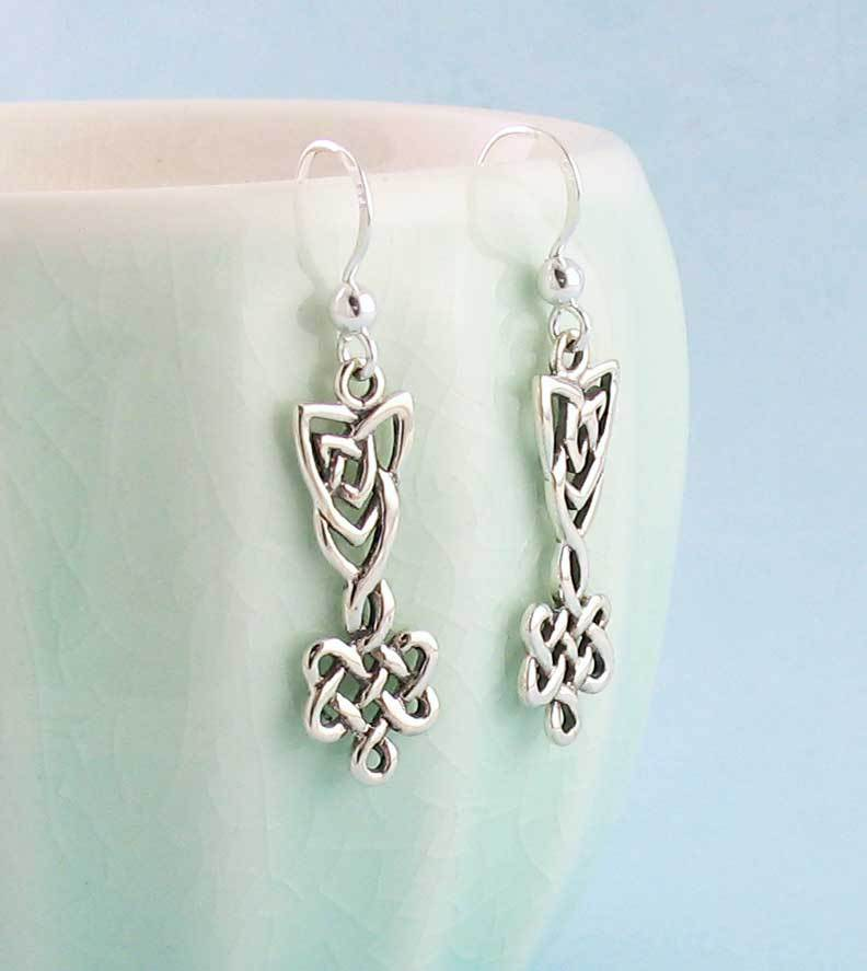 Elegant Celtic Knot Dangle Earrings - woot & hammy