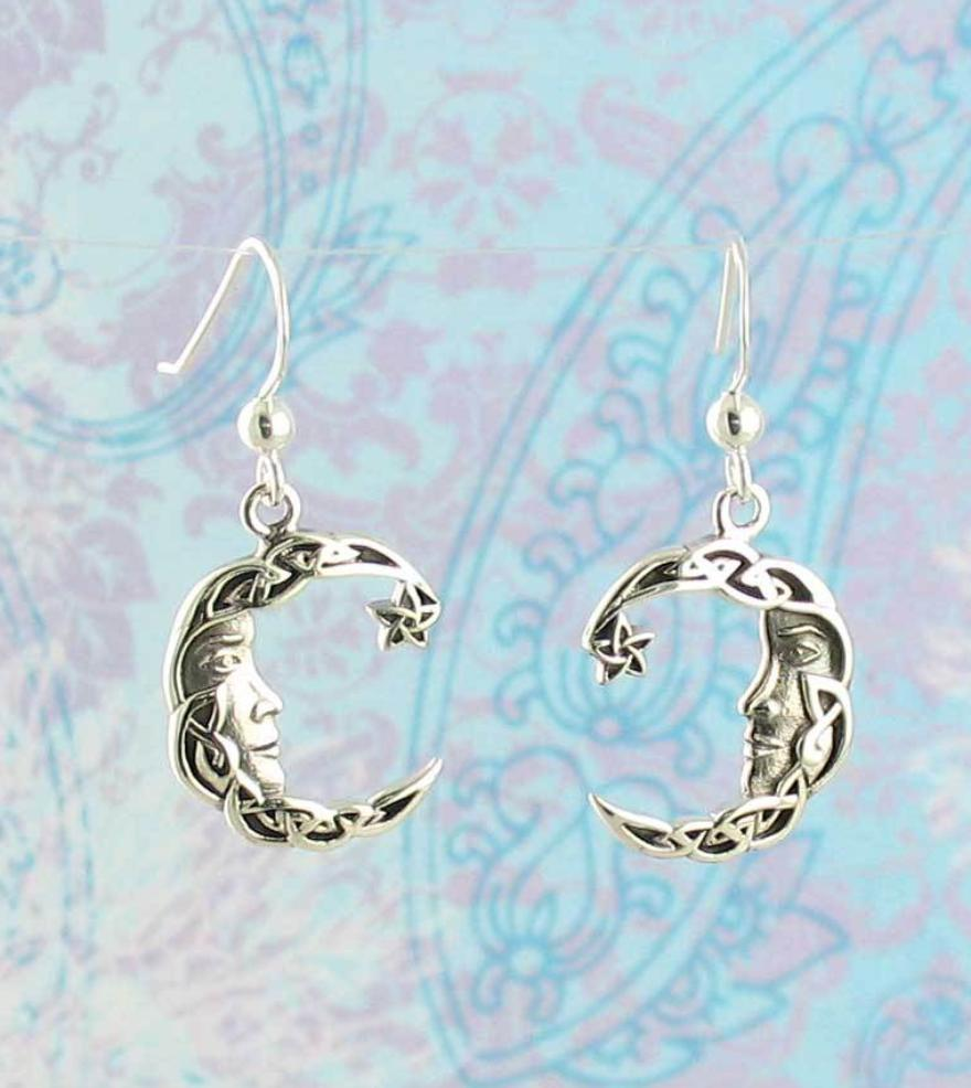 Celtic Knot Moon Face Earrings - woot & hammy