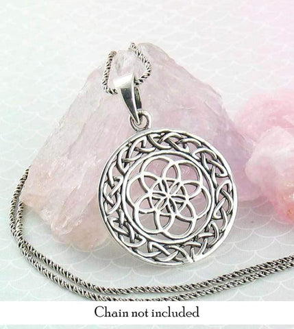 Celtic Seed of Life Necklace in Sterling Silver