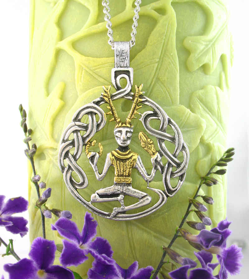 Celtic 'Horned God' Cernunnos Pendant Herne the Hunter Woodland Pagan Pewter