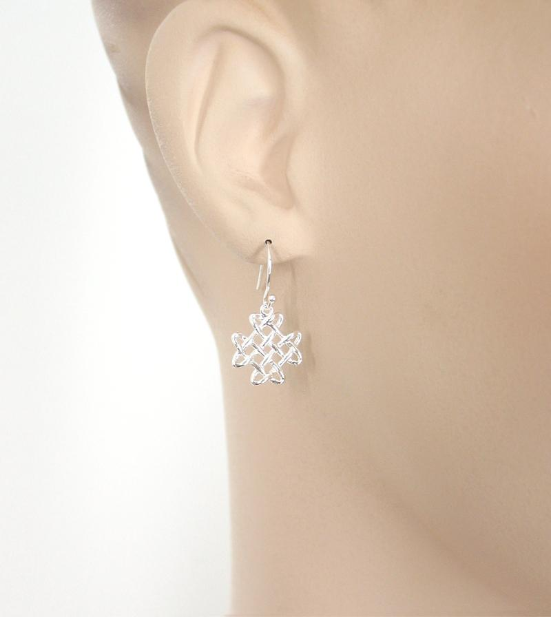 Cruciform-Shaped Celtic Knot Earrings | woot & hammy thoughtful jewelry