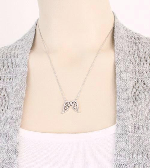 Harmonious Pair of Angel Wings Necklace - woot & hammy
