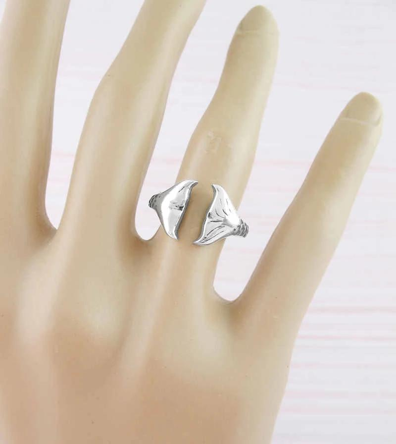 Double Mermaid Tails With Scales Adjustable Ring | woot & hammy thoughtful jewelry