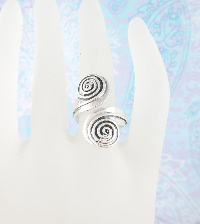 Cutout Double Spiral Adjustable Ring | woot & hammy thoughtful jewelry