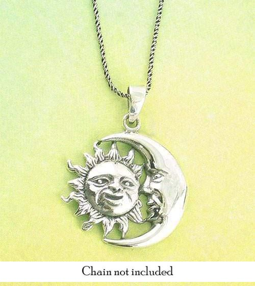 Moon Gazing at the Sun Necklace - woot & hammy