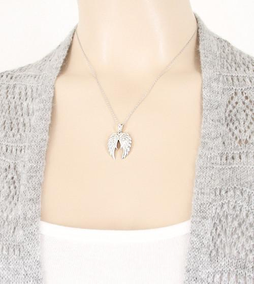 Luminous Pair of Angel Wings Necklace - woot & hammy