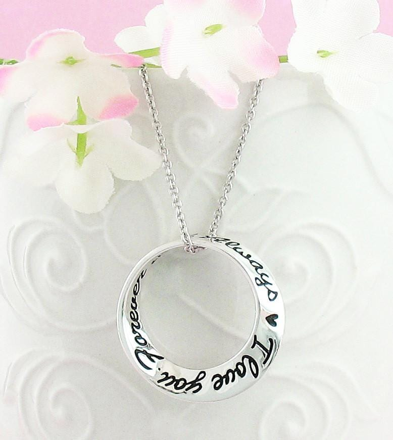 I Love You Forever & Always Mobius Necklace - woot & hammy