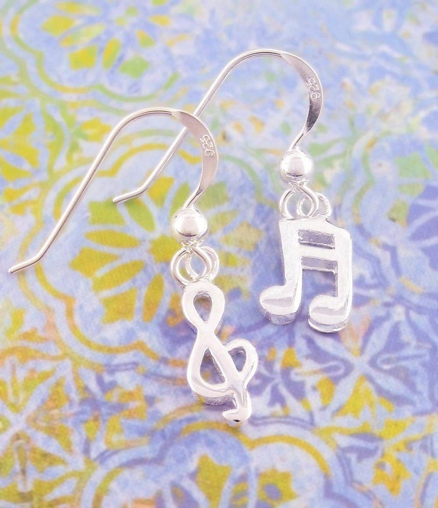 Playful Treble Clef & Music Note Earrings - woot & hammy