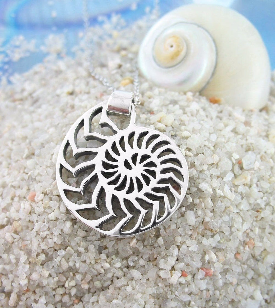 Nautilus Shell Necklace in Sterling Silver