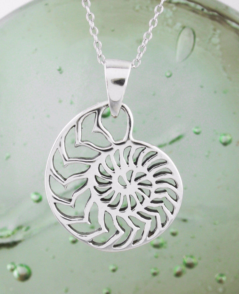Chambered Nautilus Shell Necklace - woot & hammy
