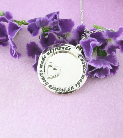 Chance Made Us Sisters Necklace in Sterling Silver-Family & Friends > Sister Necklaces-woot & hammy