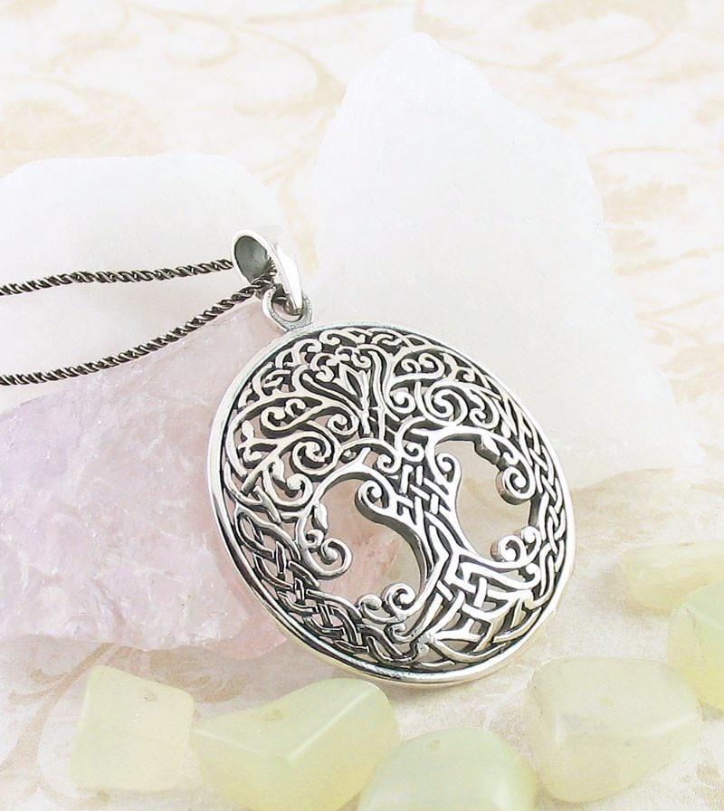 Ornate Celtic Tree of Life Necklace - woot & hammy