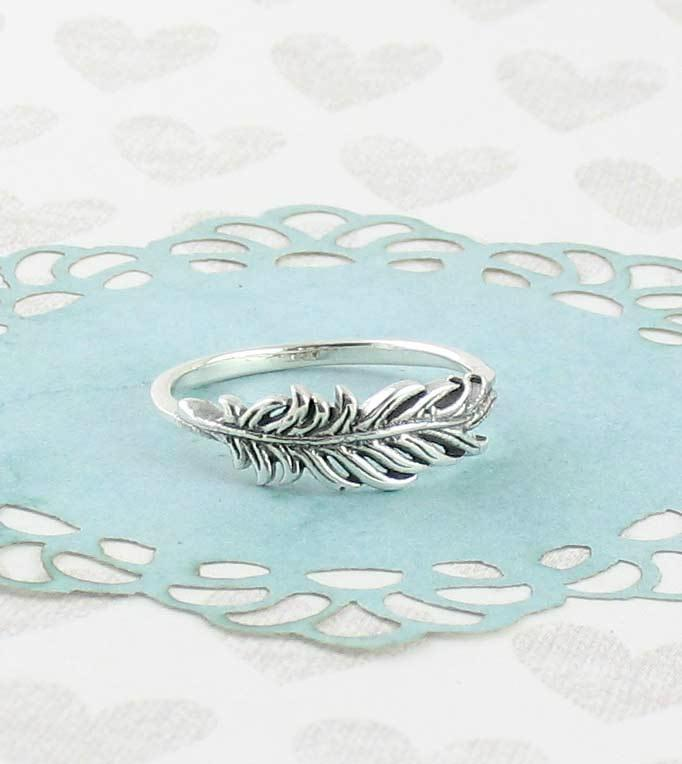 Ruffled Feather Ring - woot & hammy