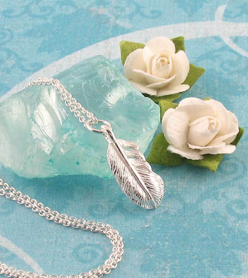 Petite Feather Necklace - woot & hammy