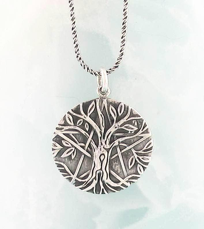Antiqued tree of life pentacle necklace in sterling silver antiqued tree of life pentacle necklace woot hammy aloadofball Images
