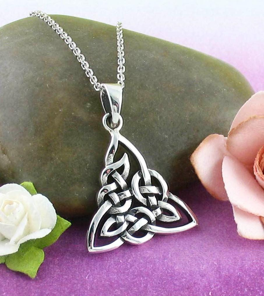 silver knot irish sil locket celtic sterling embossed lockets boru new itm sku made trinity