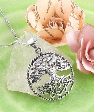 Lush Tree of Life with Celtic Knot Roots Necklace - woot & hammy