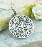 Celtic Triple Spiral Necklace - woot & hammy