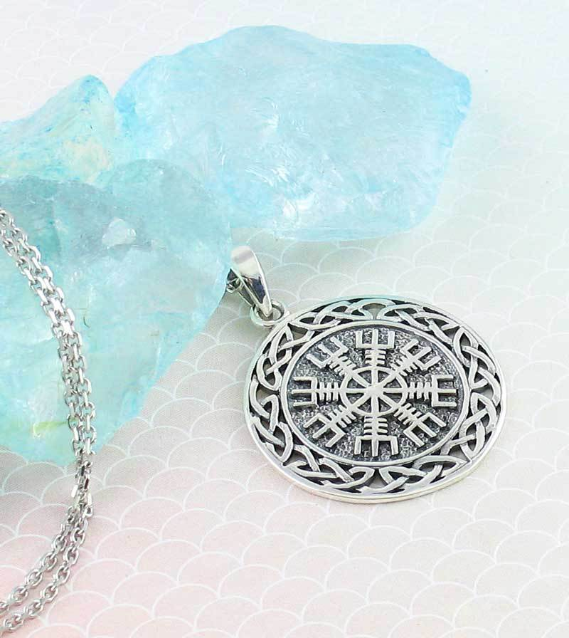 """Helm of Awe"", Aegishjalmur Necklace - woot & hammy"