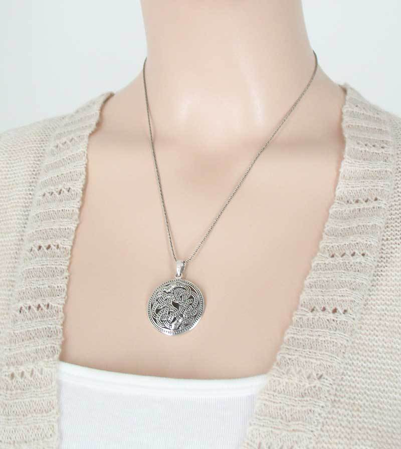 Ornate Celtic Ouroboros Necklace - woot & hammy