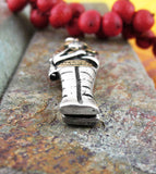 Miniature Egyptian Sarcophagus Locket Pendant in Pewter | woot & hammy