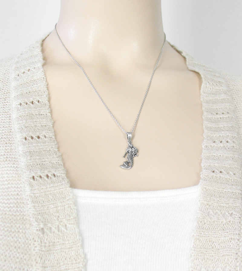 Enchanting Mermaid With Swishing Tail Necklace | woot and hammy thoughtful jewelry