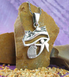 Eye of Horus with Lotus Blossoms Pendant