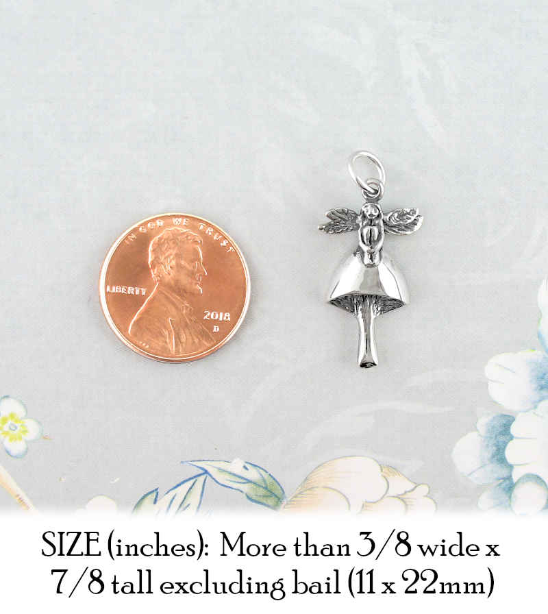 Watchful Fairy Sitting On Mushroom Charm | Woot & Hammy