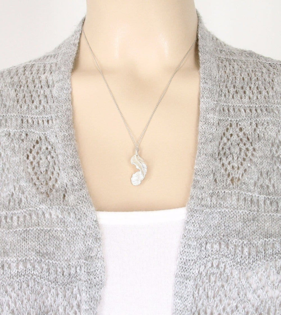 Falling Feather Necklace - woot & hammy