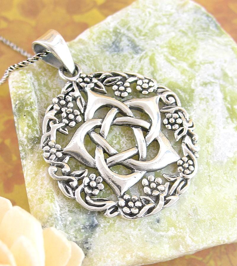 Hidden Flower Pentagram Necklace With Wreath | woot & hammy thoughtful jewelry