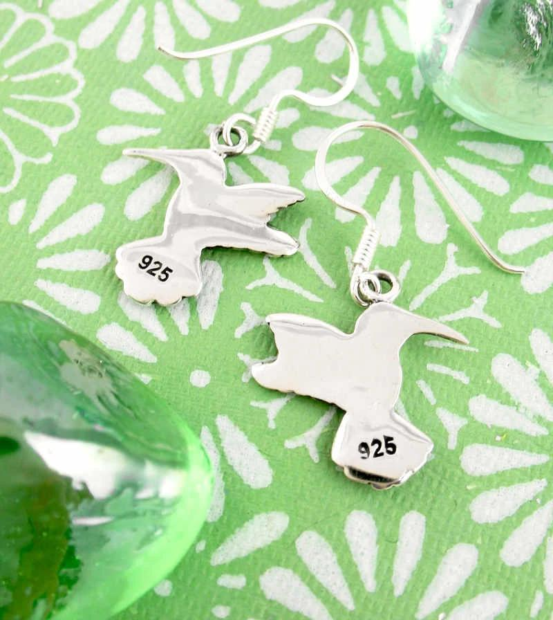 Cheerful Hummingbird Hook Earrings | woot & hammy thoughtful jewelry