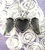 Heart-Shaped Folded Angel Wings Locket - woot & hammy